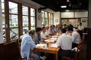 8月21日に区長の気軽にトークに参加し、中川まちづくりプランを説明
