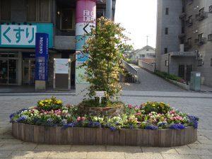 完成したシンボル花壇