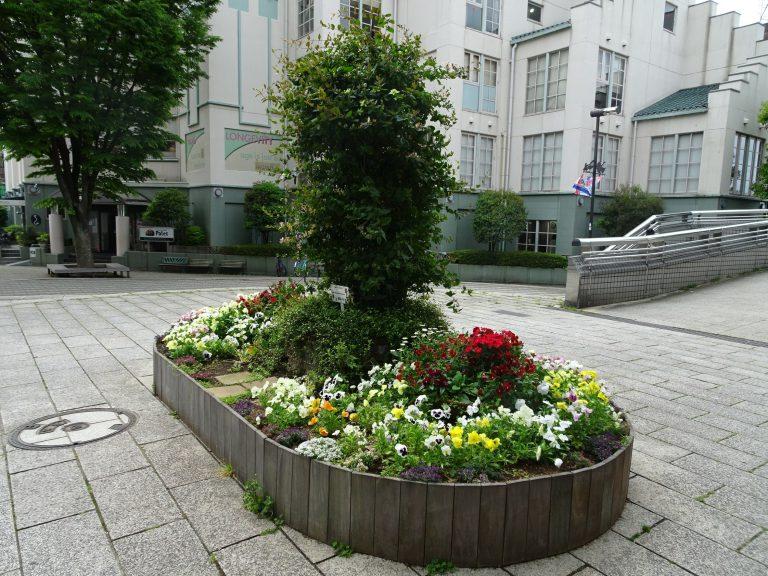 春のシンボル花壇