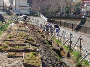 3月14日 住民と学生で仕切り板設置作業
