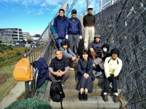 住民9名と区役所、都市大学生が参加しました