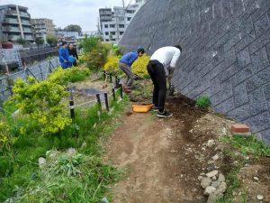園路の拡幅工事