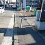 歩道の障害物撤去