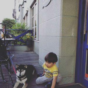 二人の待ち合わせ場所でした。ありがとう、ほっとカフェ中川。